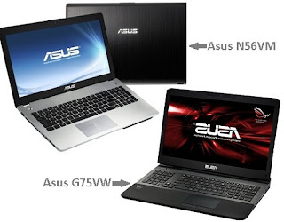 Asus N56VM and G75VW: Specs & Price higher-end PC in India