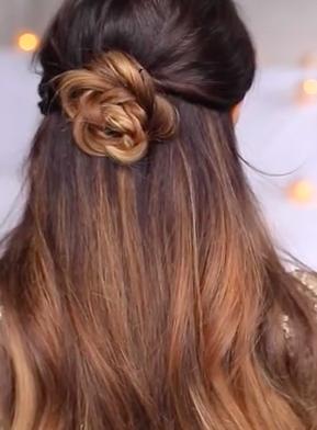 flower half undo hairstyle