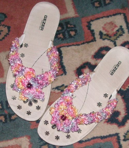 Knitting Pattern For Flop : Knitting Galore: Knitted Flip Flop Strap Covers