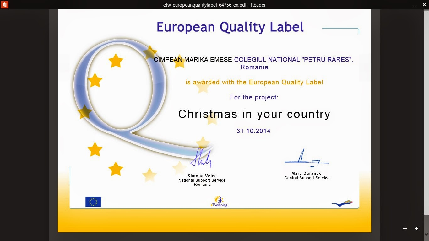 Certificat european de calitate