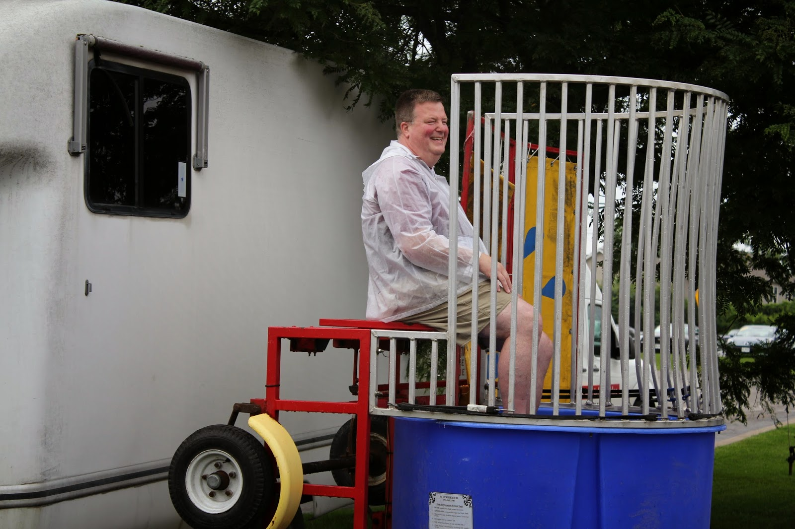 The Dunk Tank at Hoselton Auto Mall's Annual Sundae Fun Day Employee Picnic!