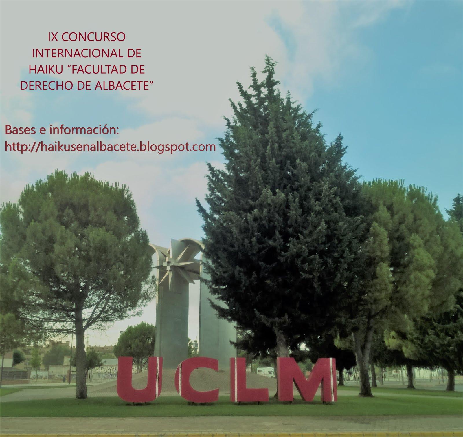 """IX CONCURSO INTERNACIONAL DE HAIKU """"FACULTAD DE DERECHO DE ALBACETE"""""""