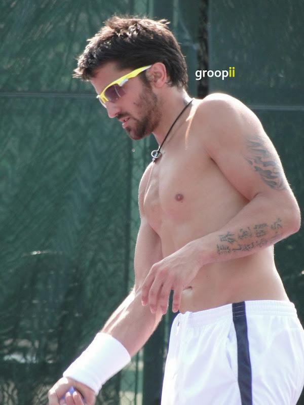 Janko Tipsarevic Shirtless at Miami Open 2011