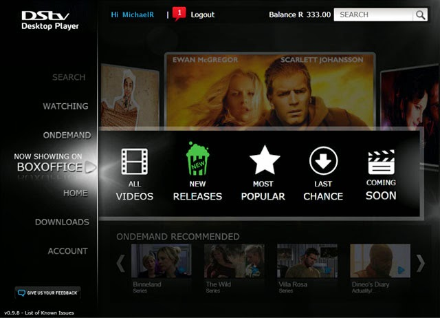 DsTv desktop Player
