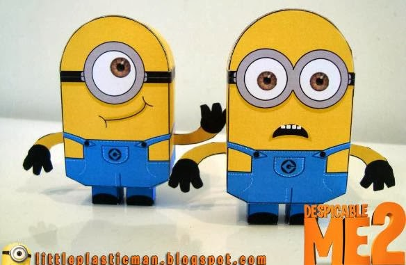 PAPERMAU: Despicable Me 2 - Minions Paper Toys - by Little Plastic Man
