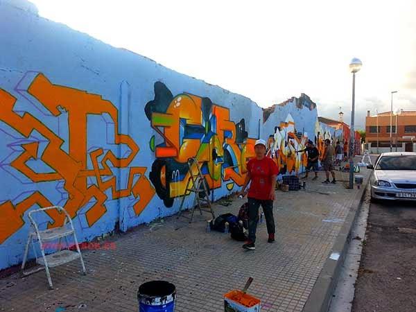 Graffitis en Torredembarra