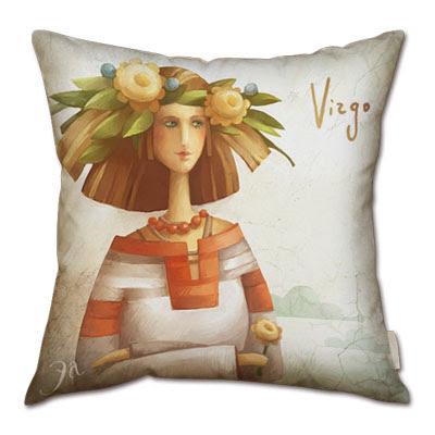 signo zodiacal virgo en almohada