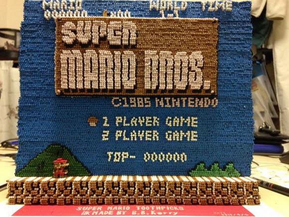 Super Mario Bross con palillos