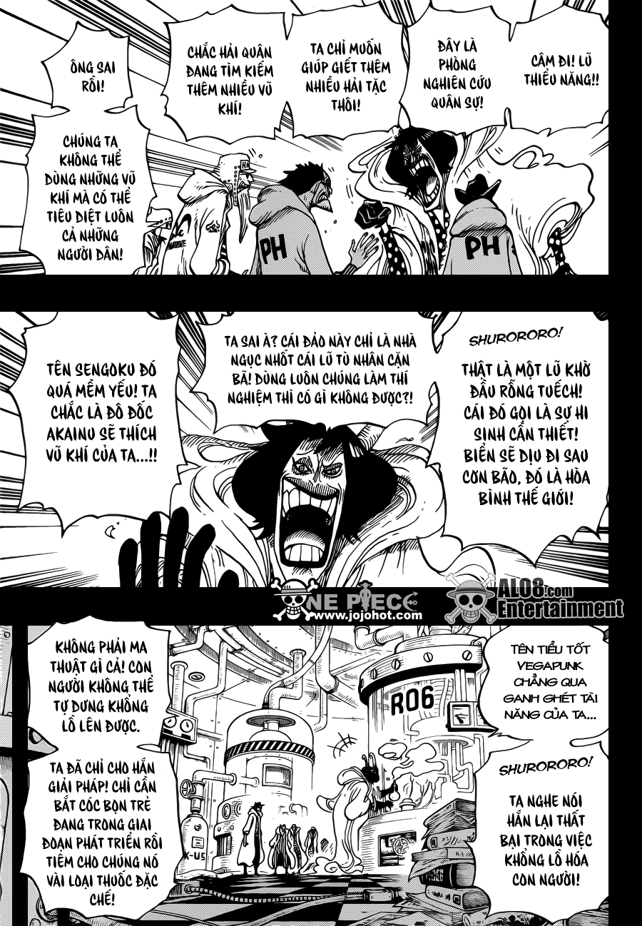 """One Piece Chapter 684: """"Dừng lại, Vegapunk!"""" 017"""