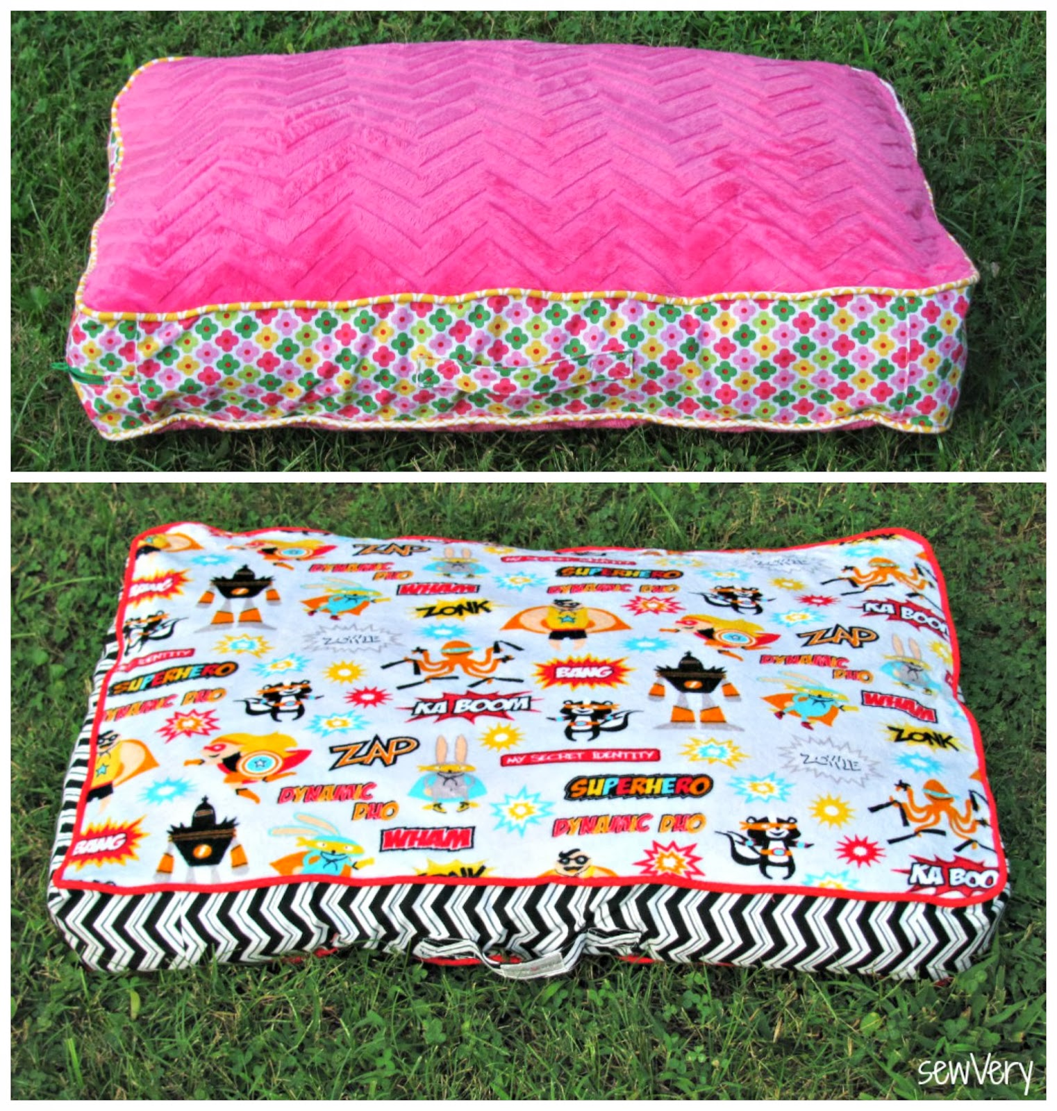 Cuddle Floor Pillow & Matching Blanket Tutorial by sewVery ? Sewciety ? My Cuddle Corner