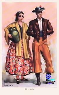 Traje típico de Jaén - Editorial Artigas 1940 - Diseño: Tuser