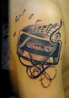 Tatouage cassette audio