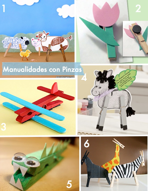 Kids Crafts with Clothes Pins