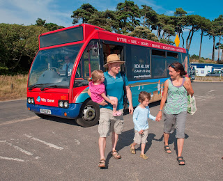 Beach Bus 'Route 99' at Lepe Beach