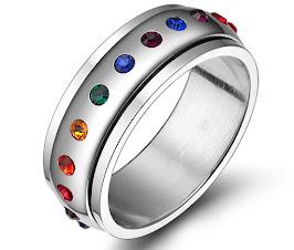 Nhẫn Nam Nữ Inox 304 Titan Gắn Đá