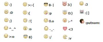 Kode-kode smiley lainnya :