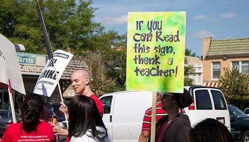 Chicago Teachers Strike, September 2012. (Photo by Brad Perkins)