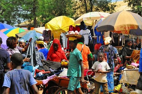 Foumban market Cameroon Central Africa.
