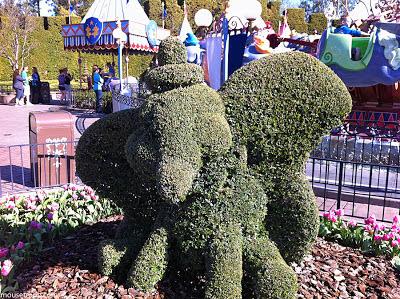 Dumbo topiary Disneyland Fantasyland plant garden Shining