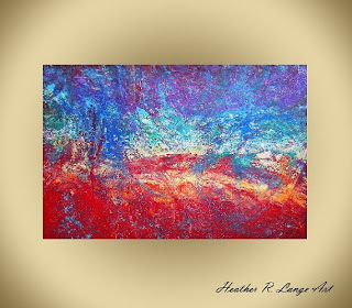 82 Million Light Years Away by Heather R Lange heatherrlange abstract painting