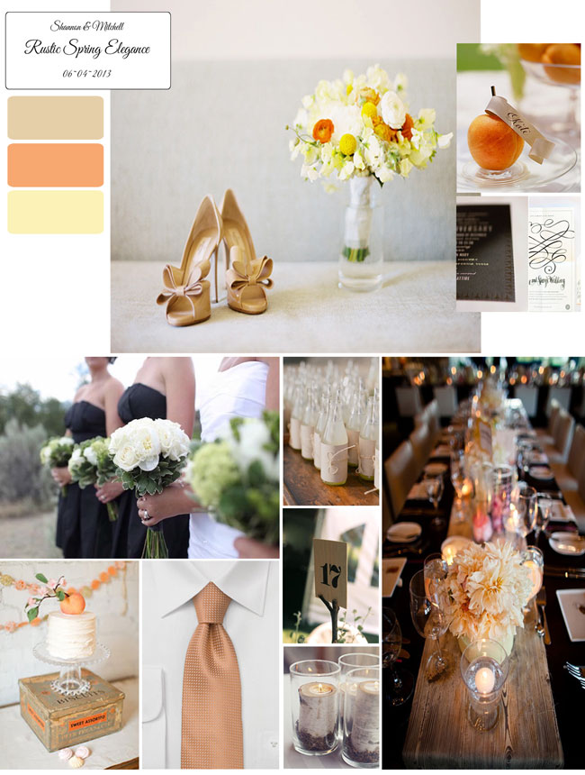 rustic elegance wedding mood board