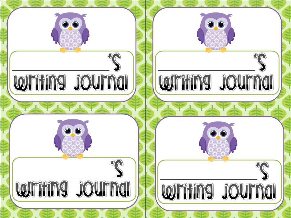 School Writing Journal For Second Grade