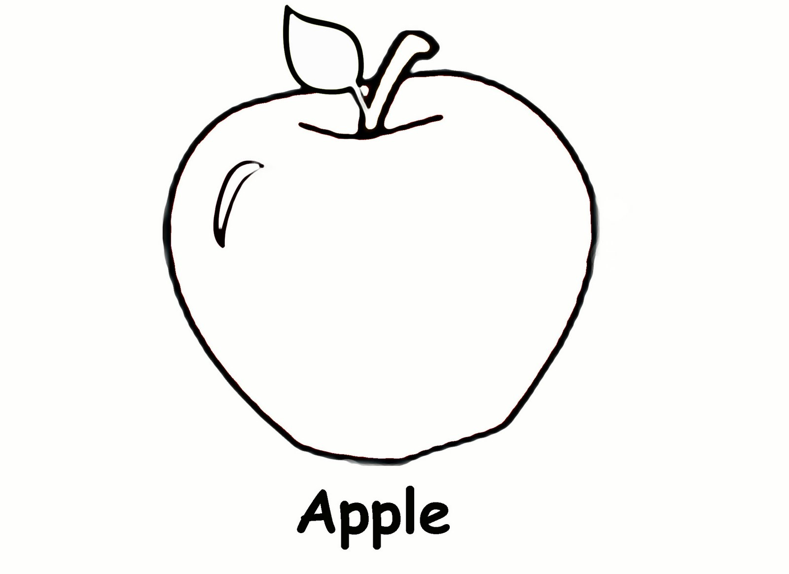 Free Coloring Pages Of An Apple : Sidther free printable preschool level coloring pages