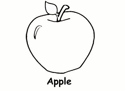 Preschool Apple Coloring Page