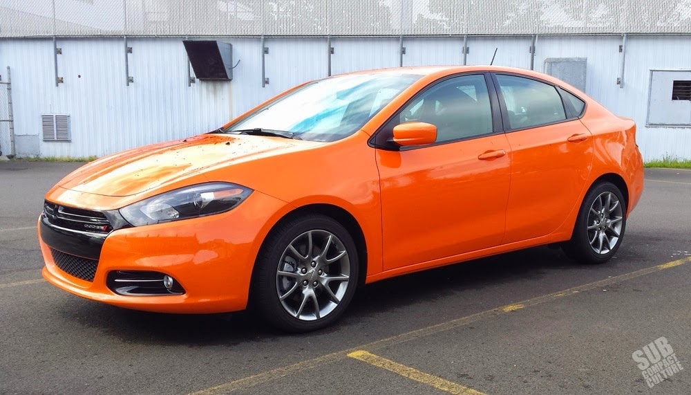 Orange Dodge Dart