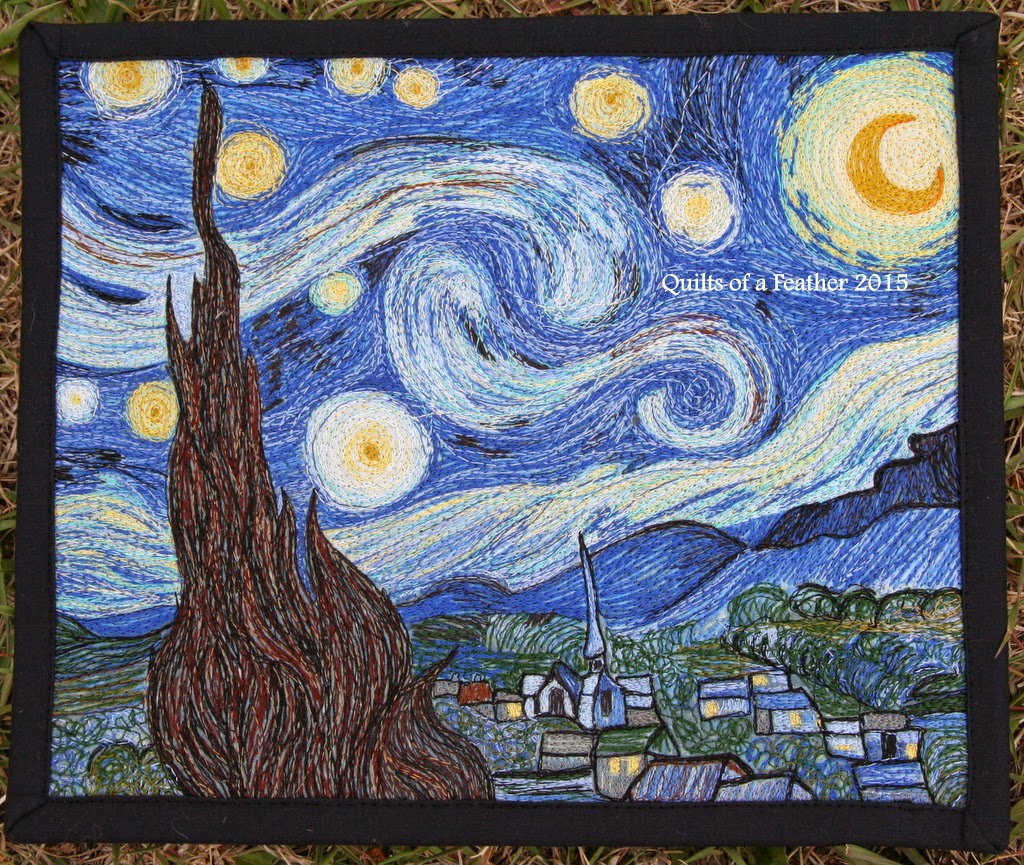 Quilts of a Feather: Blogger's Quilt Festival: Starry Night : starry night quilt pattern - Adamdwight.com