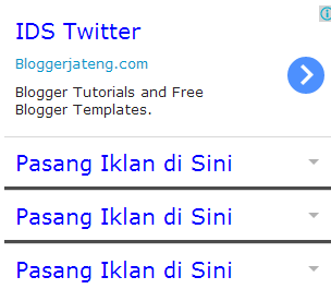 Cara Membuat Widget Iklan Seperti Google Adsense