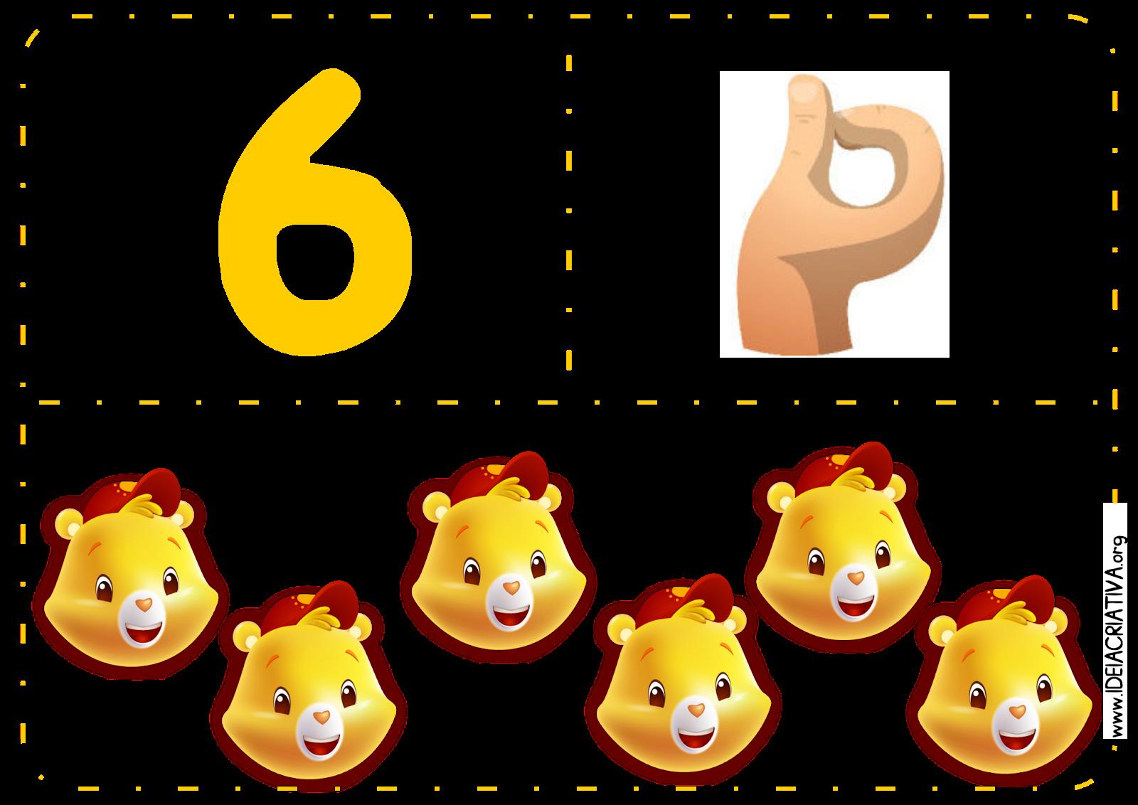 Numerais para Parede Libras Ursinhos Carinhosos