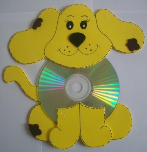 Top ESPAÇO EDUCAR: 20 animais feitos com cd usado! Reciclagem com cd! CT22