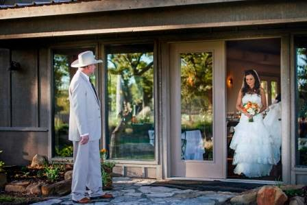 Ryan and Leslie, Father and Daughter, Bride, McGowan Images, Processional