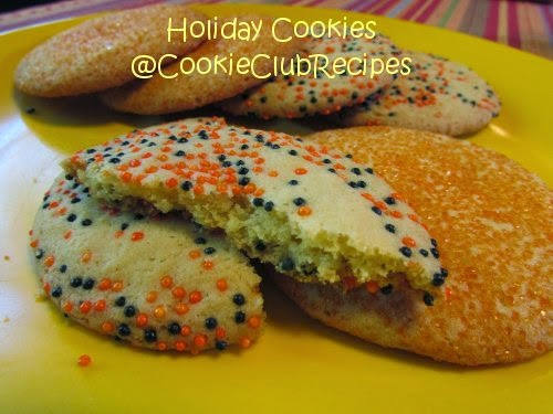 Holiday Lemon Sugar Cookies at CookieClubRecipes!