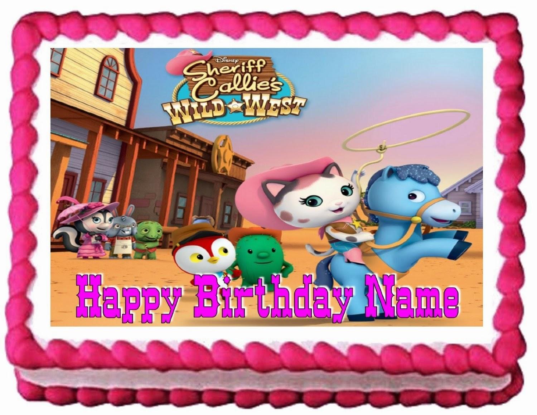 Sheriff Callie Party Cake Sheriff Callies Wild West Birthday