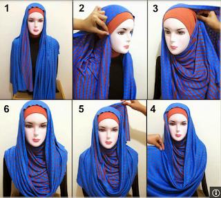 cara praktis memakai jlbab