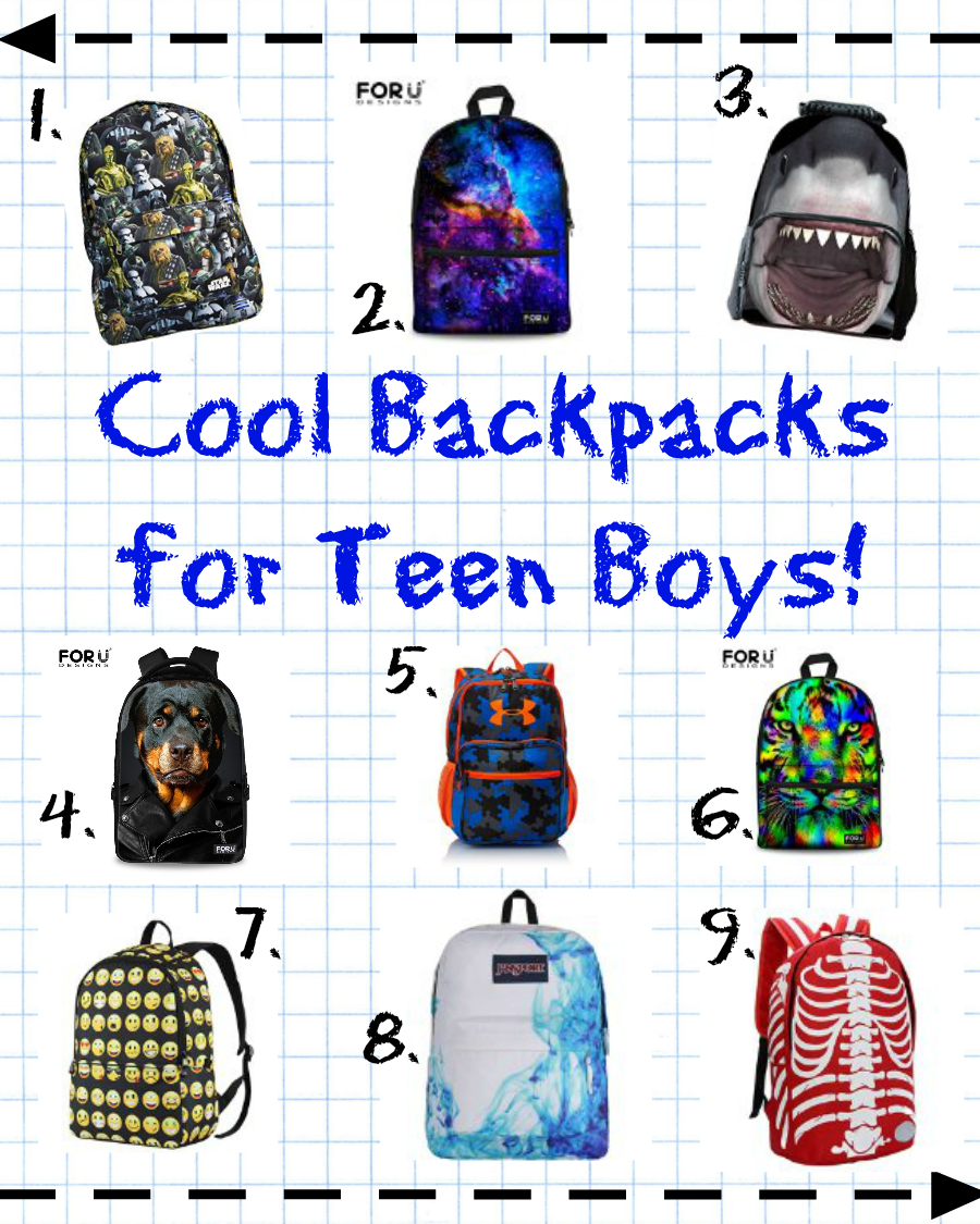 Back to school swag cool backpacks for teen boys stacie for Coole hochbetten fa r teenager