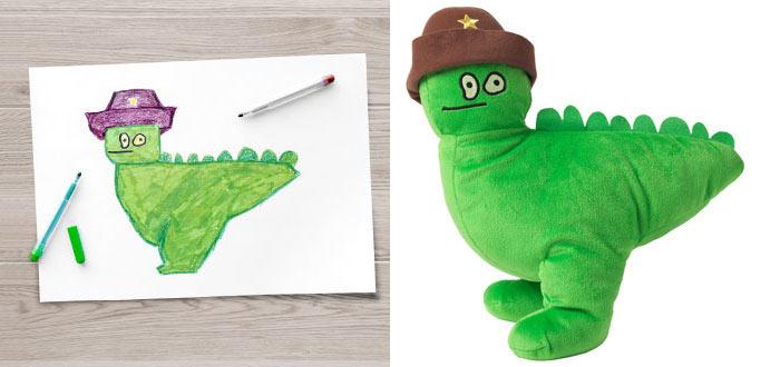 Ikea convierte dibujo de niños en juguetes, y los vende para recaudar fondos para la caridad