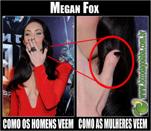 Megan Fox: como os homens veem e como as mulheres veem