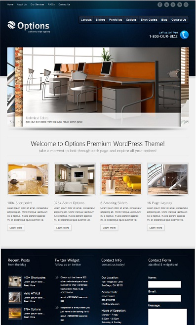 Option Busines Thems WordPress Premuim