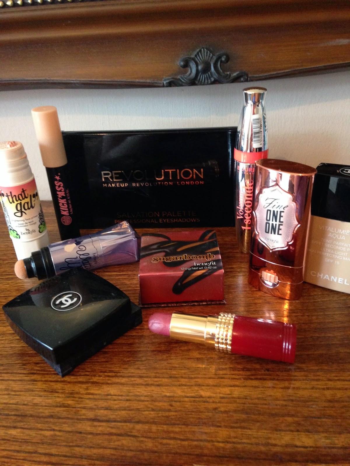 Makeup Revolution; Benefit; Chanel; Elizabeth Arden; Bourjois; Soap & Glory