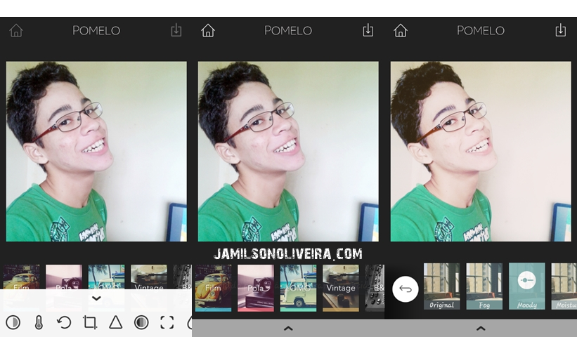 Aplicativo Pomelo para editar fotos - Jamilson Oliveira Blog