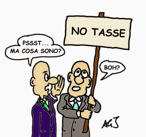 Tasse, no tax day, satira