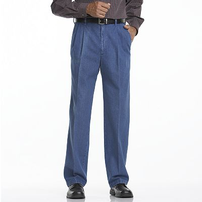 These men's Haggar pleated denim pants are the perfect addition to ...