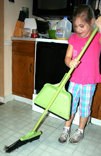 kids chores sweeping age appropriate broom kid child
