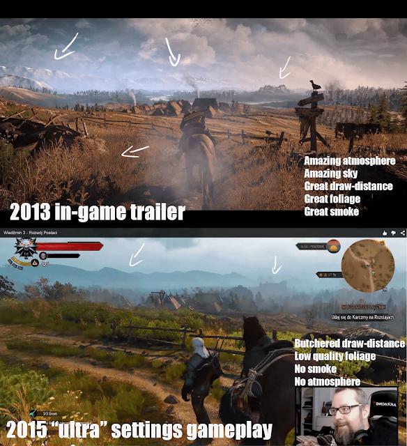 comparison image of graphic downgrade