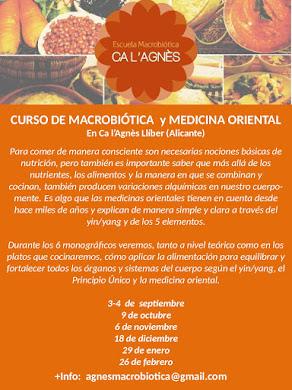 CURSO MACROBIÓTICA Y MEDICINA ORIENTAL EN LLÍBER (Alicante)
