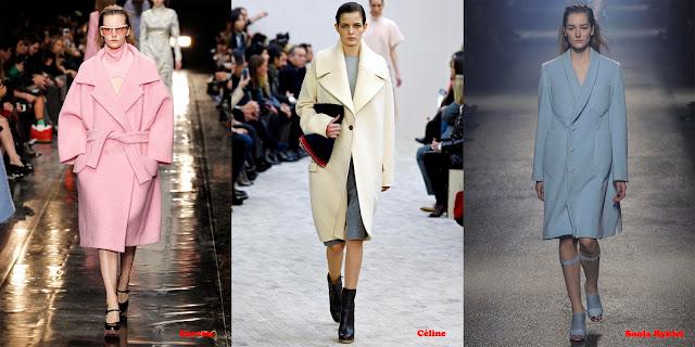 Tendencias mujer otoño/invierno 2013/14 abrigo tono pastel: Carven, Céline y Sonia Rykiel