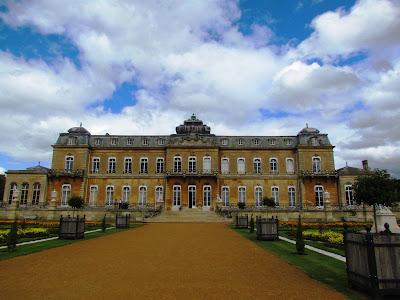 Wrest Park, stately home, De Grey family, blue sky, English Heritage